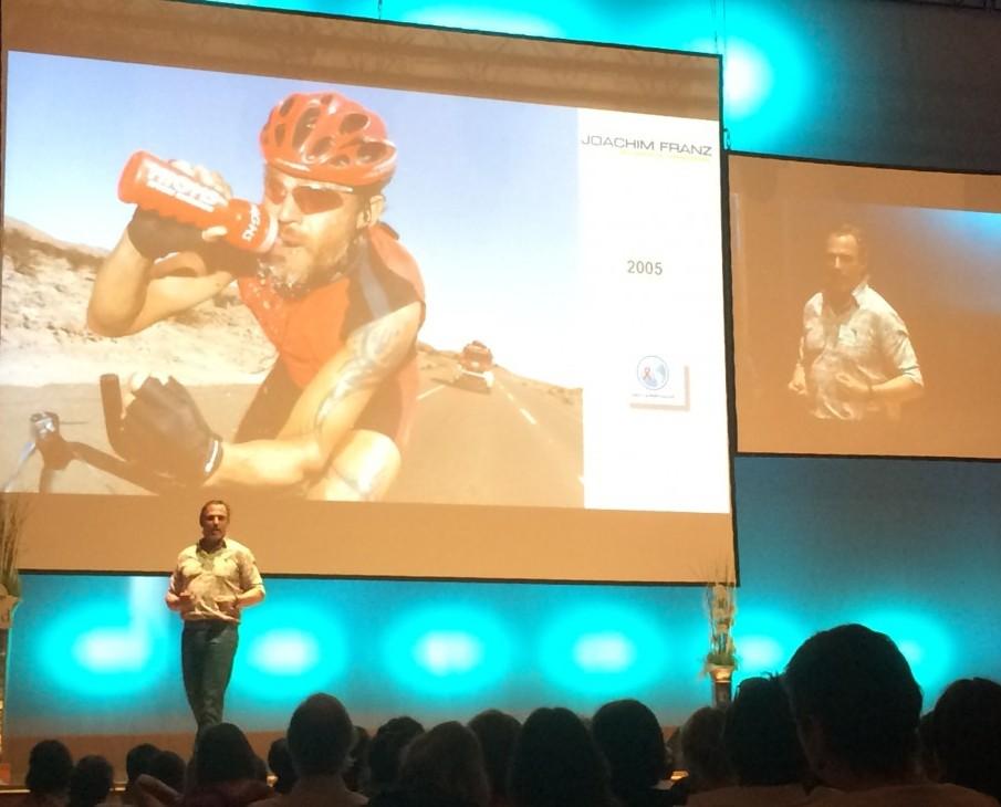 Extremsportler Joachim Franz im Vortrag