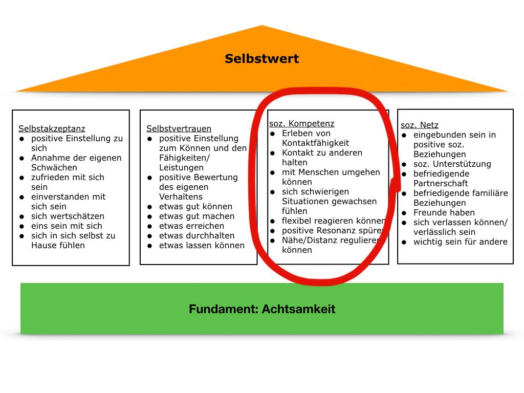 Soziale Kompetenz - ein Baustein des Selbstwerts