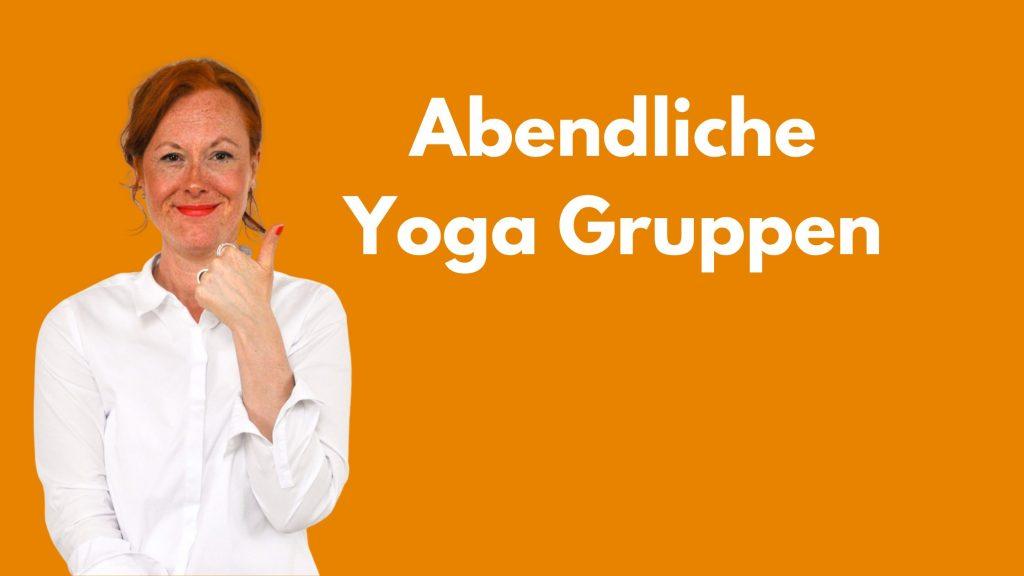 Mein Angebot: abendliche Yogagruppen
