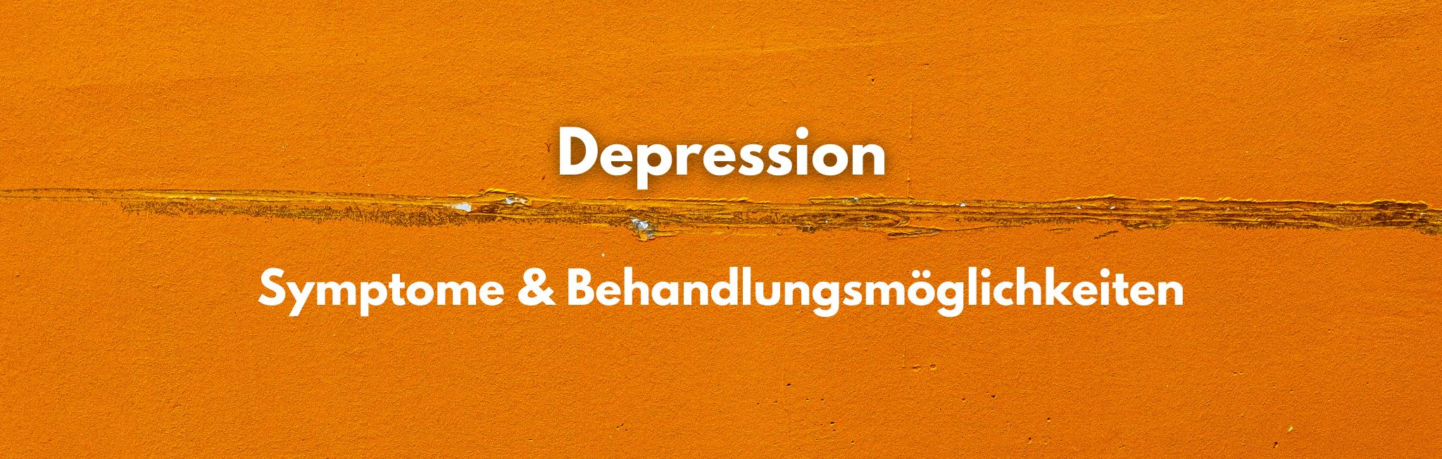 Psychotherapie hilft bei Depressionen!