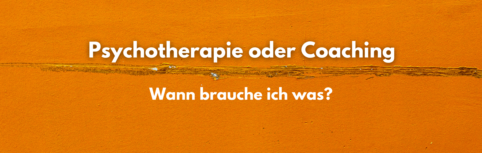 Wann brauche ich eine Psychotherapie und wann ein Coaching?